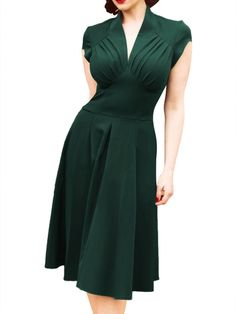 Shop Green V Neck Short Sleeve Slim Dress online. SheIn offers Green V Neck  Short e768d203d