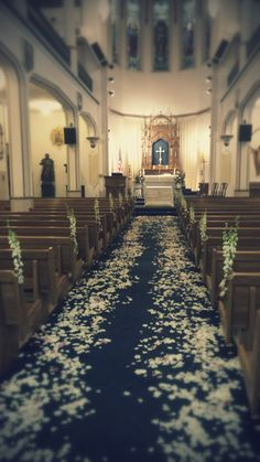 This classic wedding was very simple and tasteful with white and pale purple rose petals down the aisle and white larkspur used in the pew bows. Pew Bows, Town And Country, Purple Roses, Rose Petals, Table Decorations, Simple, Classic, Floral, Wedding