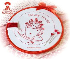 Mouse-House Embroidery Pattern – My Fabric Heaven