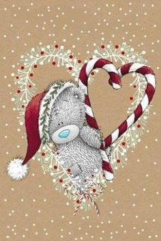 E Christmas Tatty Teddy by constance