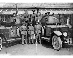 """Two of the thirteen Rolls-Royce Armored Cars of the Irish Free State's National Army, photographed during the Irish Civil War: """"The Big Fella"""" and """"The Fighting Army Vehicles, Armored Vehicles, Armored Car, Rolls Royce, Celtic Signs, Irish Free State, Irish Independence, Easter Rising, Steampunk"""