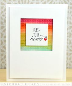 Bless Your Heart Card by Nichole Heady for Papertrey Ink (December 2013)