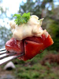 makkaroille sinappikastike Eggs, Breakfast, Food, Morning Coffee, Essen, Egg, Meals, Yemek, Egg As Food