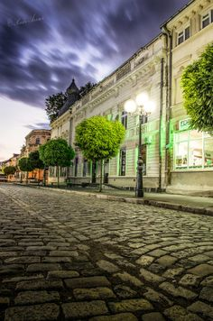 Braila, Romania (by Radu Arama) City Break, Beautiful Places, Old Things, Mansions, Landscape, Country, Family History, Roads, Lamps
