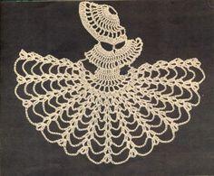 Vintage crochet pattern- crinoline lady - corner motif by TheBusyTipsyGipsy on Etsy Crochet Art, Crochet Round, Crochet Motif, Crochet Dolls, Crochet Flowers, Crochet Granny, Vintage Crochet Patterns, Crochet Stitches Patterns, Doily Patterns
