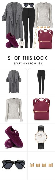 """""""Untitled #715"""" by joslynaurora ❤ liked on Polyvore featuring Topshop, Proenza Schouler, Sophie Hulme, Daniel Wellington, Le Specs, Maison Margiela, women's clothing, women, female and woman"""