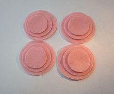 Pink assorted felt die cut circles set of 12 felt by WhimsyFelt