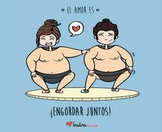 El amor es engordar juntos...