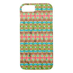 Tribal colorful pattern iPhone 7 case - tap to personalize and get yours Samsung Galaxy S6, Plastic Case, Iphone Case Covers, Color Patterns, Colorful, Abstract Pattern, Prints, Stylish, Unique