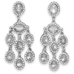 Beautiful Crystal Chandelier Fashion Earrings ($19) ❤ liked on Polyvore featuring jewelry, earrings, clear crystal earrings, crystal chandelier earrings, crystal jewellery, crystal earrings and clear crystal jewelry