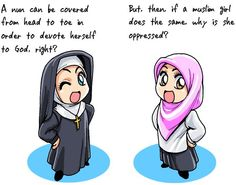 Dominant Culture & Stereotypes: I never realized this to be so true. Society never feel threatened when a nun walks around covered up, but when a muslim woman comes near somebody it's a problem due to prejudice, and stereotypes.  Pinned from Emily Kelley