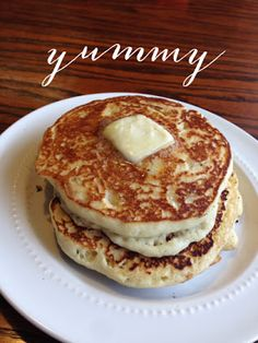 This is my favorite homemade pancake recipe ever! I make these all the time! During  fall I add pumpkin spice and during summer I'll add some orange zest or lemon zest! Make a homemade icing from powdered sugar and they're even better!- Erika