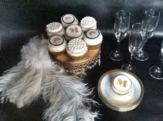 Great Gatsby Cupcake Toppers by SweetTooth Cakes and Sugar Flowers