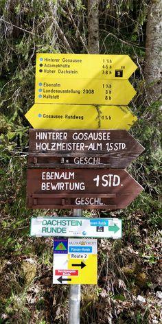 Wandern im Salzkammergut: vom Vorderen zum Hinteren Gosausee Hallstatt, Salzburg, Names, Travelling, Outdoor, Sport, Road Trip Destinations, Viajes, Projects