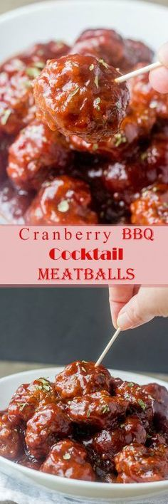 holiday appetizers This sweet and tangy Cranberry BBQ Cocktail Meatballs recipe is fitting for an easy holiday appetizer or make it into a meal served over rice! These would be a hit for parties, Christmas Eve, Christmas Day, or New Years Eve. Holiday Appetizers, Appetizer Recipes, Holiday Recipes, Party Appetizers, Meat Appetizers, Party Snacks, Dinner Recipes, Meatball Recipes, Beef Recipes