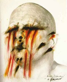 hey flame head! by Arnulf Rainer