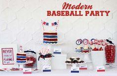 Gorgeous modern baseball party
