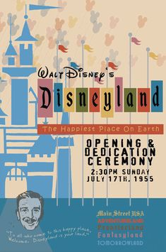 1955 Disneyland Opening Day Poster Walt Disney Reagan Buy Any 2 Get 1 Free Disneylândia Vintage, Disney Vintage, Vintage Disney Posters, Party Vintage, Retro Disney, Vintage Disneyland, Disneyland California, Disney Love, Disney Magic