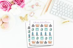 Planner stickers - Cleaning stickers, erin condren planner stickers, kawaii stickers