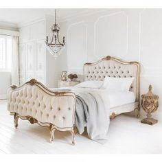 Palais Avenue Upholstered Bed by The French Bedroom Company, right out of a romantic fairy tale.