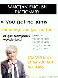 Bangtan English Dictionary featuring: Rapmon