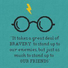 Harry Potter Cross Stitch Pattern Bravery Quote door Stitchering