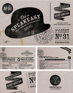 Typeeasy The Speakeasy brand identity Web Design, Layout Design, Print Design, Logo Design, Brochure Design, Brand Identity Design, Corporate Design, Graphic Design Typography, Graphic Design Illustration