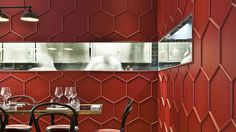 Red Truth: Le Vrai Brasserie and Boulangerie in Milan by Karine Lewkowicz | Yatzer