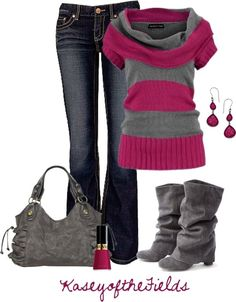 "gray+and+fuschia+images | Grey and Fuschia"" by kaseyofthefields on Polyvore"