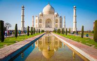 Taj Mahal sunrise tour on a full-day tour package to Agra from Delhi. visit one of the world-famous wonder Taj Mahal Agra, at best price. Taj Mahal India, Le Taj Mahal, India Holidays, Agra Fort, Ville France, India Tour, By Train, Machu Picchu, Travel Tips