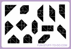 geometric shapes to print, cut, color, fold