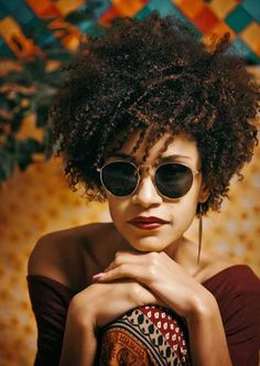 Afro style. Facesunglasses