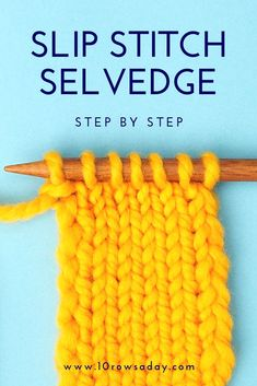 The Easiest Way to Make Neat Side Edges Beginner Knitting Patterns, Knitting Help, Easy Knitting Projects, Knitting For Beginners, Loom Knitting, Knitting Stitches, Knitting Tutorials, Invisible Stitch, Baby Sweater Patterns