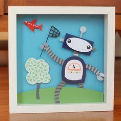 robot craft   Cute paper art robot   Craft Ideas