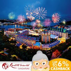 School holiday is coming! Take your family to a wonderful trip at Resort World Sentosa Singapore, at prices that will shine. Shop now through Getex Malaysia and enjoy up to 6% CASHBACK.