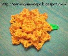 Crochet Flower Hair Clips (Free pattern for the flower!)