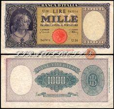 0f260fb716 Collezione Personale di Banconote Italiane: 1000 Lire ORNATA DI PERLE-  TESTINA - DECRETO UNICO