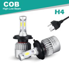 oslamp gedoopt grootlicht 6500 k 2 stks led koplamp kits cobsmd chips auto led auto lampen suv led lampen met koelventilator