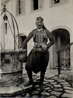 Albanian catholic 1914 in Shkodra/Scutari with the austrohungarian badge