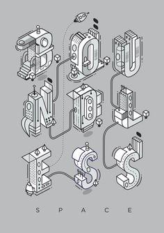 Boundless Space Typography | Abduzeedo Design Inspiration