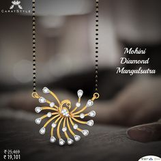 Beauty and Prosperity of a Indian Married Woman's Jewellery Diamond #Mangalsutra ##woman #trends #shopping #haveanicesunday #fashionable