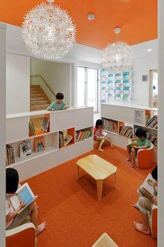 Daycare, Preschoo, and Kindergartenl in Unzen-shi, Nagasaki, Japan School Building Design, School Design, Classroom Design, Classroom Decor, Daycare Business Plan, Early Childhood Centre, Interior Design Courses Online, Kindergarten Design, Kids Cafe