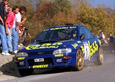 Colin McRae and the 1996 Subaru Impreza 555 Rally car Subaru Impreza Wrc, Subaru Forester, Subaru Rally, Rally Car, Subaru Sport, Colin Mcrae, Gt Turbo, Cars Youtube, Japanese Cars