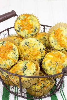 Stuffed with spinach and cheese, these Spinach Cheddar Cornbread Muffins are great alongside a hot bowl of chili or stew!