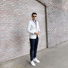 Check out @blakescott_ in our men's Theory jacket.