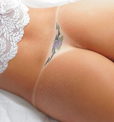 Purple Tattoo in Purfect Spot! :)  Thanks for adding me to your Circles.   I look forward to your feedback on my blog if you get a chance to read some.....Thank you :)    http://love-food-sex.blogspot.com/2013/01/on-multiples.html    Warmly,  Alan            #love #food #sex #erotic #sexy #small #thing #purple