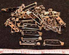 Qty 10 Glue On Pin Backs Jewelry Making Supplies by SoRRoGlass $2.00 #DIY #SoRRoGlass #JewelryMaking