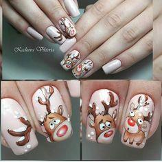 You don't need to choose the same nail art patterns over and over again. Xmas Nails, New Year's Nails, Holiday Nails, Gel Nails, Christmas Nail Designs, Christmas Nail Art, New Years Nail Designs, Nail Art Designs, Winter Nails