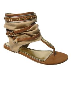 Super cute gladiator sandal...would love these in black too.