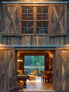 "if i ever lived on a farm and had a spare barn i would totally make it a ""room"" - games, movies, music, entertaining"